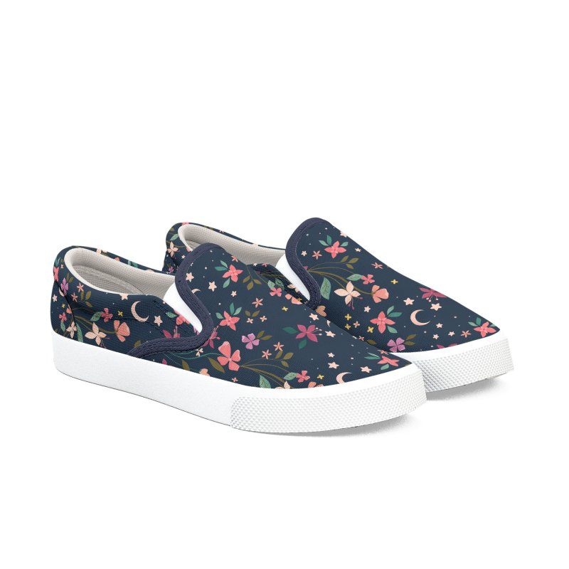 Night Blossoms Women's Slip-On Shoes by carlywatts's Shop