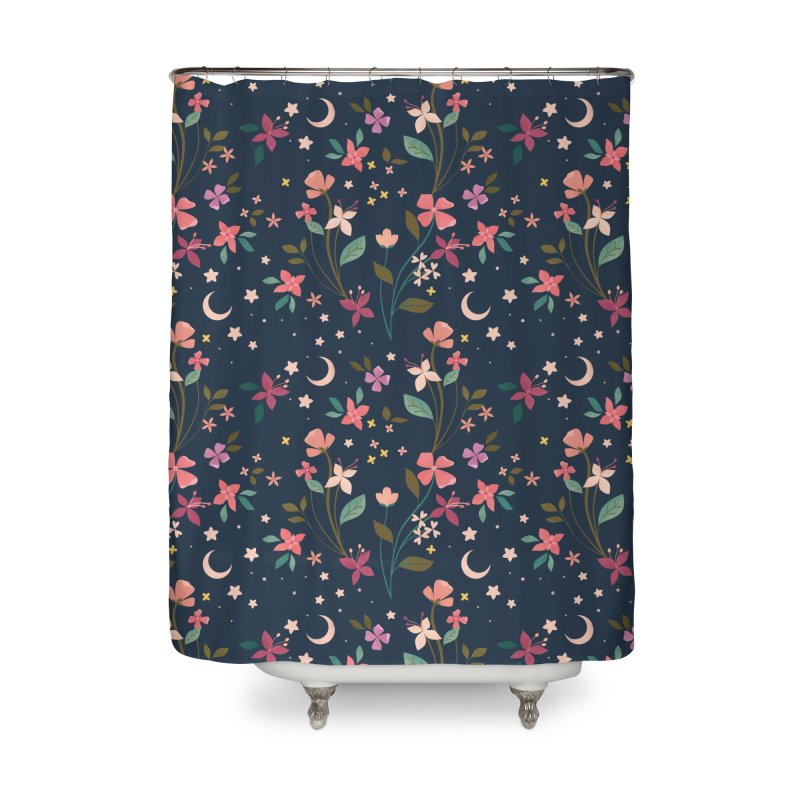 Night Blossoms Home Shower Curtain by carlywatts's Shop
