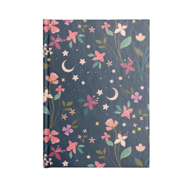 Night Blossoms Accessories Lined Journal Notebook by carlywatts's Shop