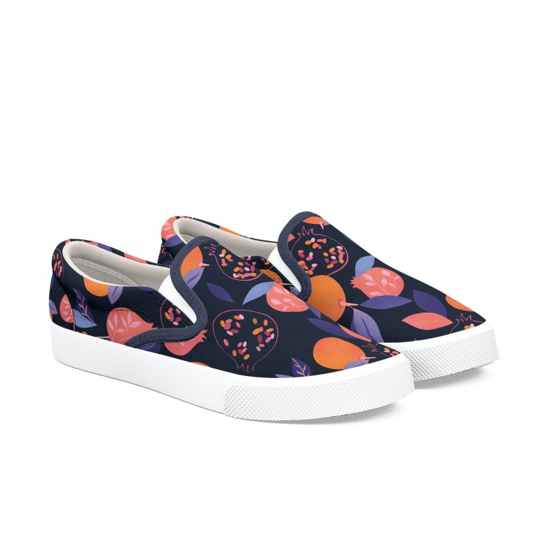 Fruit Gathering Women's Slip-On Shoes by carlywatts's Shop