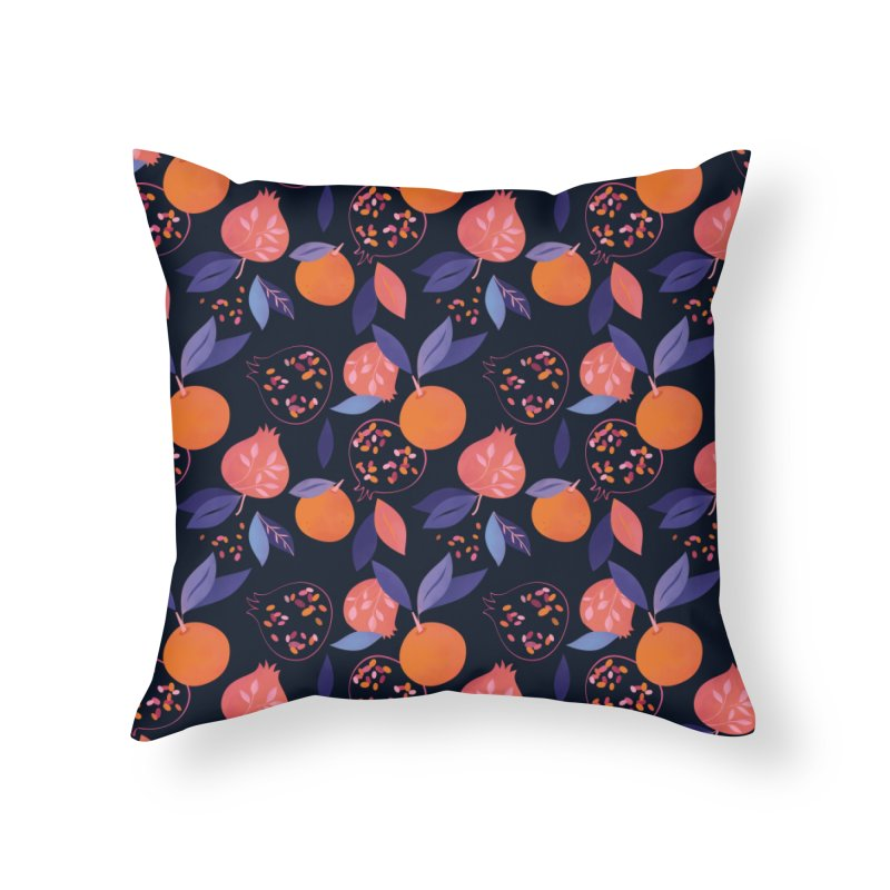 Fruit Gathering Home Throw Pillow by carlywatts's Shop