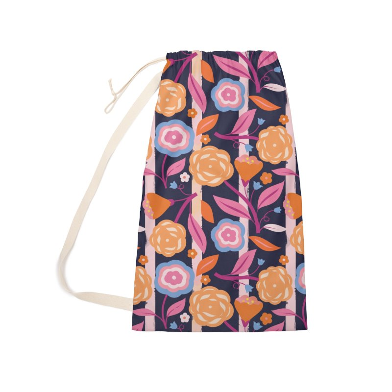 Climbing Blooms Accessories Laundry Bag Bag by carlywatts's Shop