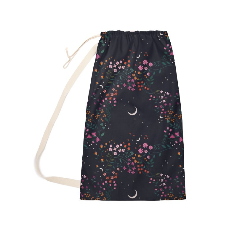 Midnight Garden Accessories Laundry Bag Bag by carlywatts's Shop