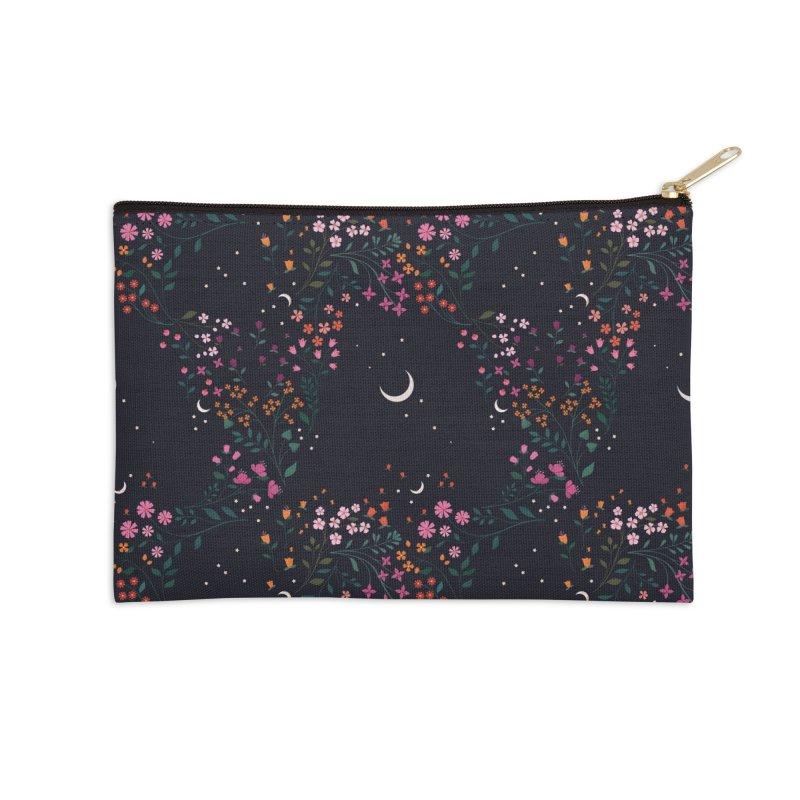Midnight Garden Accessories Zip Pouch by carlywatts's Shop