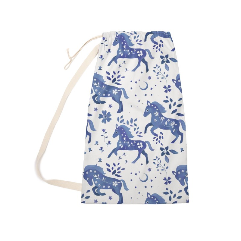 Delft Blue Horses Accessories Laundry Bag Bag by carlywatts's Shop