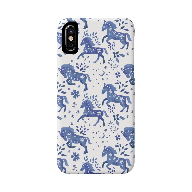 Delft Blue Horses Accessories Phone Case by carlywatts's Shop