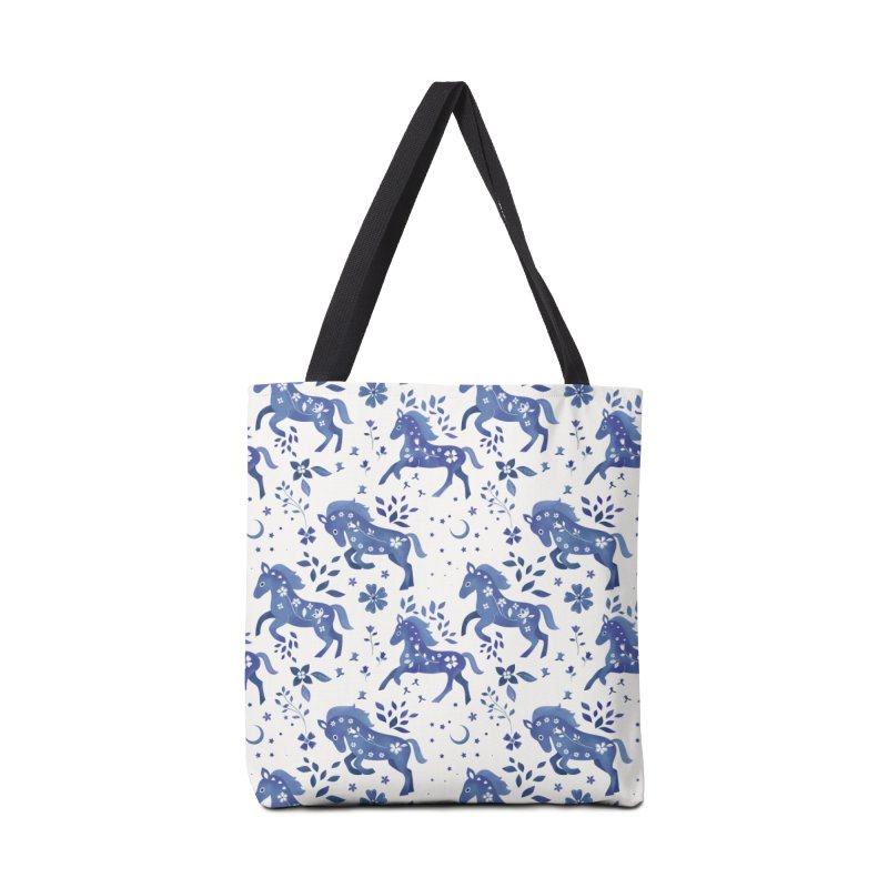 Delft Blue Horses Accessories Tote Bag Bag by carlywatts's Shop