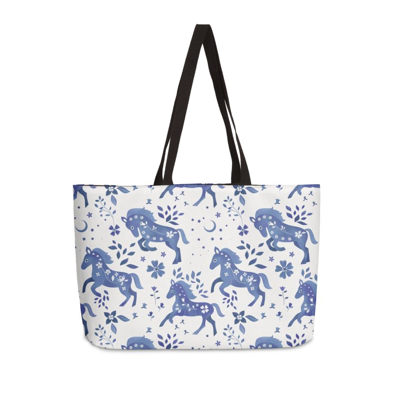 Delft Blue Horses in Weekender Bag by carlywatts's Shop