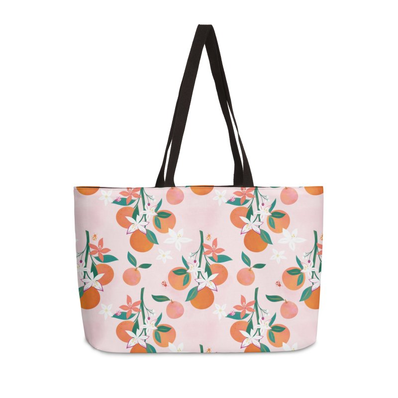 Orange Blossoms Accessories Weekender Bag Bag by carlywatts's Shop