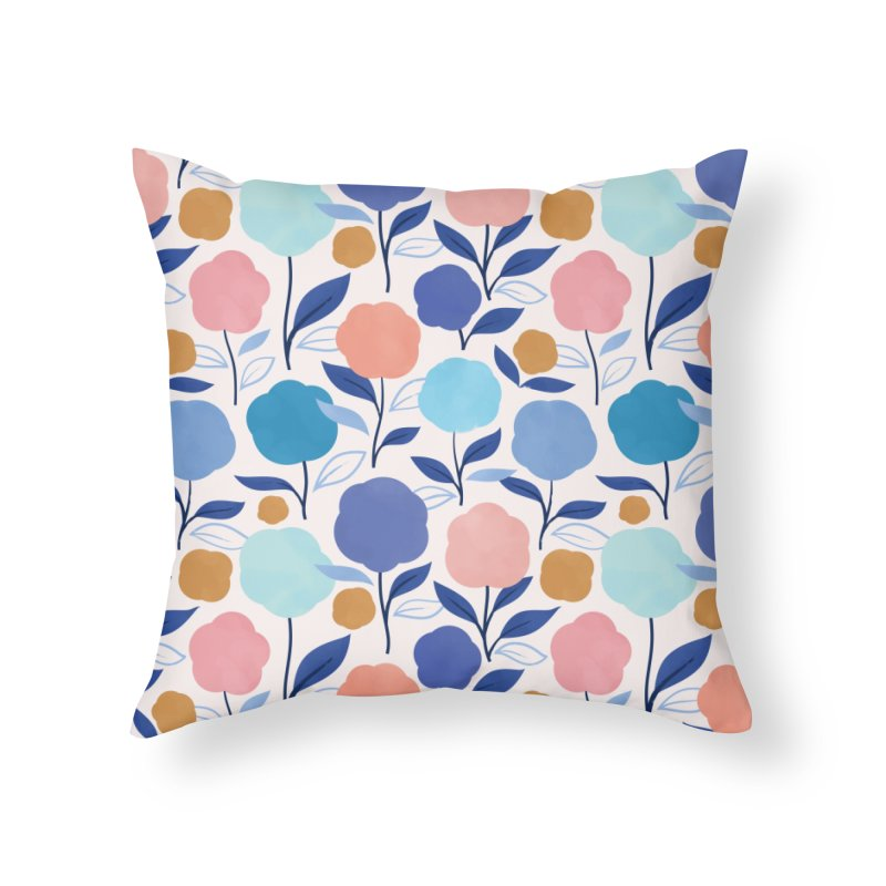 Lollipop Flowers Home Throw Pillow by carlywatts's Shop