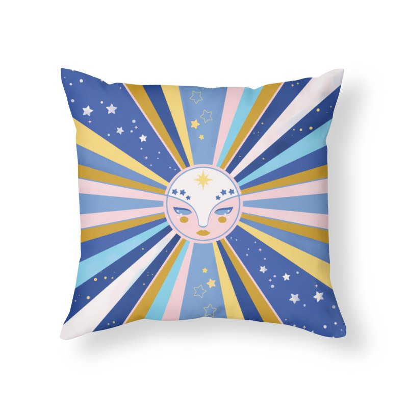 Sunshine Home Throw Pillow by carlywatts's Shop