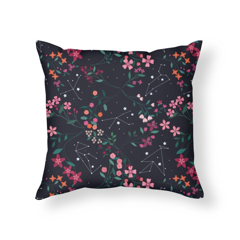 Starry Beasts Home Throw Pillow by carlywatts's Shop
