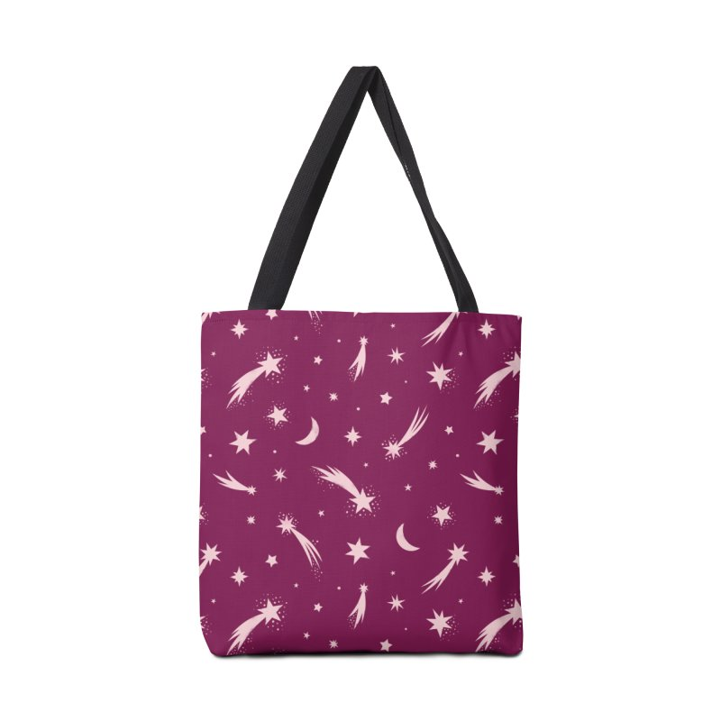 Mini Meteors Deep Pink Accessories Tote Bag Bag by carlywatts's Shop