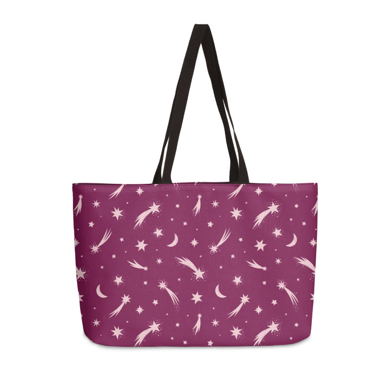 Mini Meteors Deep Pink Accessories Bag by carlywatts's Shop