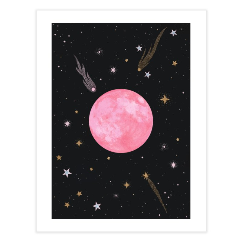Strawberry Moon Home Fine Art Print by carlywatts's Shop