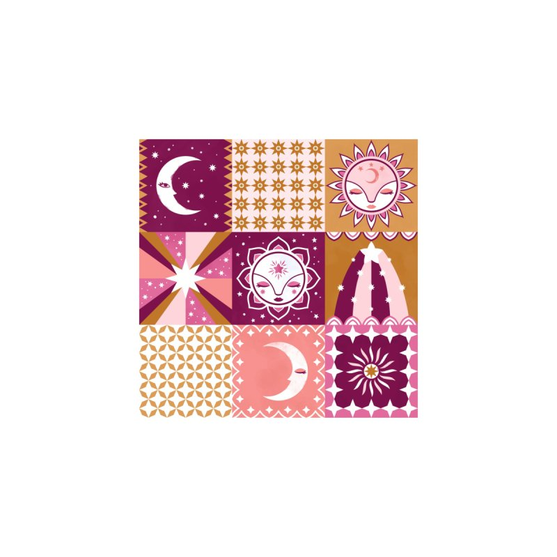 Little Luna Faces Pink Home Fine Art Print by carlywatts's Shop