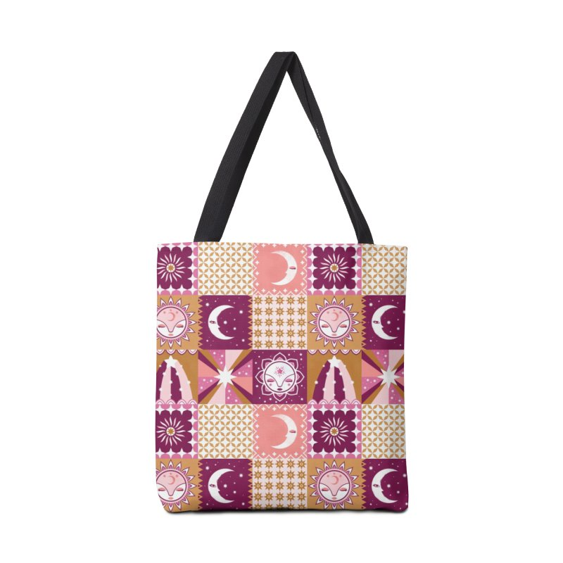 Little Luna Faces Pink Accessories Tote Bag Bag by carlywatts's Shop