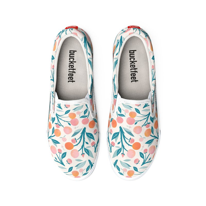 Peaches and Peony Buds Men's Shoes by carlywatts's Shop