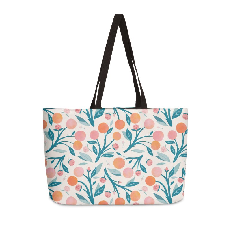 Peaches and Peony Buds Accessories Bag by carlywatts's Shop