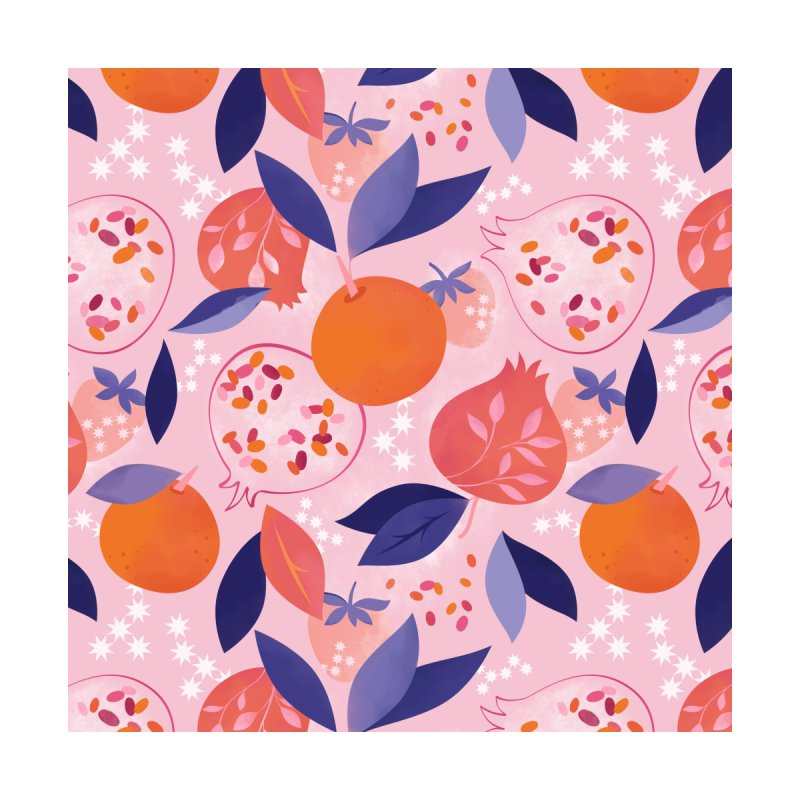 Pink Pomegranates Accessories Zip Pouch by carlywatts's Shop