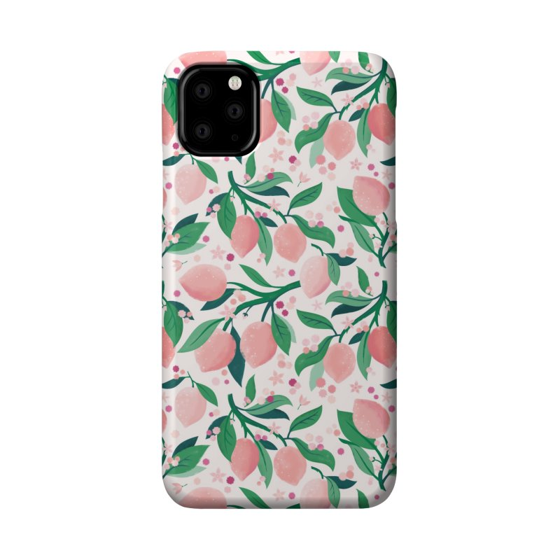 Lemon Mimosa Coral Accessories Phone Case by carlywatts's Shop