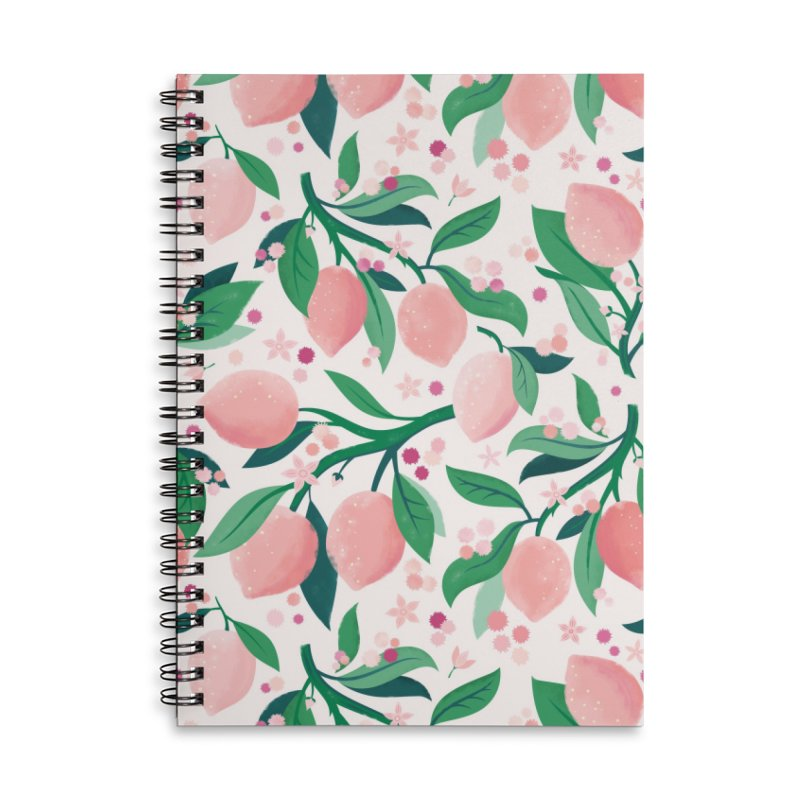 Lemon Mimosa Coral Accessories Notebook by carlywatts's Shop