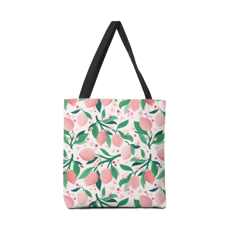Lemon Mimosa Coral Accessories Bag by carlywatts's Shop