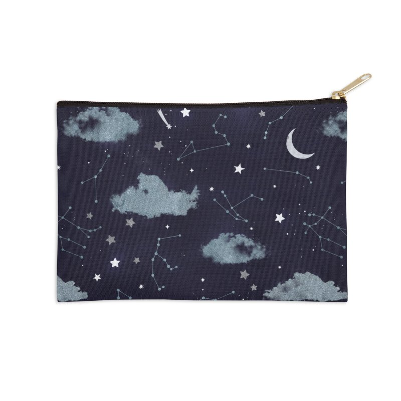 Silver Starlight Accessories Zip Pouch by carlywatts's Shop
