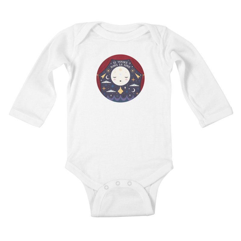 A Trip to the Moon  Kids Baby Longsleeve Bodysuit by carlywatts's Shop