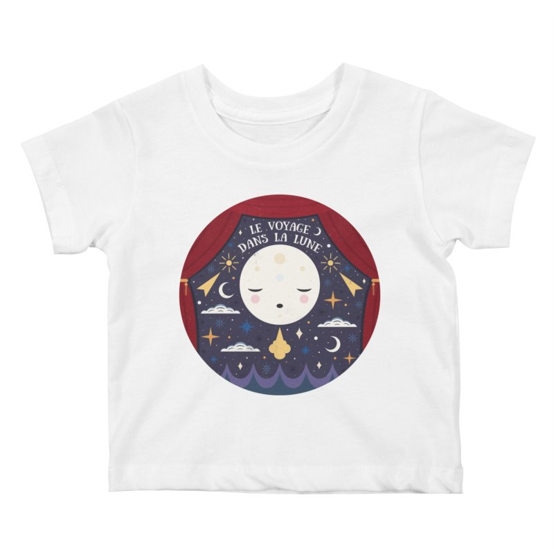 A Trip to the Moon  Kids Baby T-Shirt by carlywatts's Shop