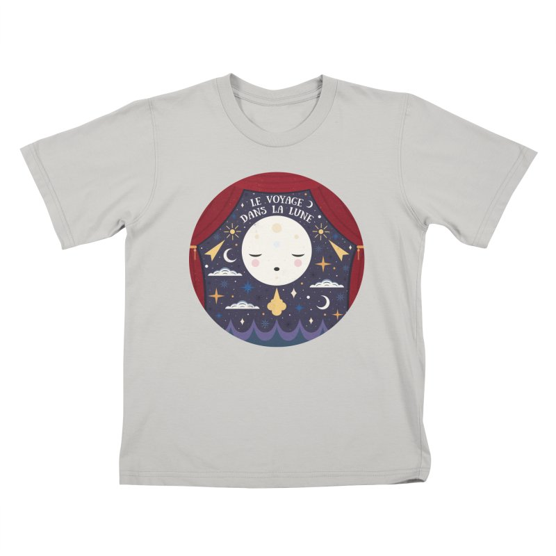 A Trip to the Moon  Kids T-shirt by carlywatts's Shop