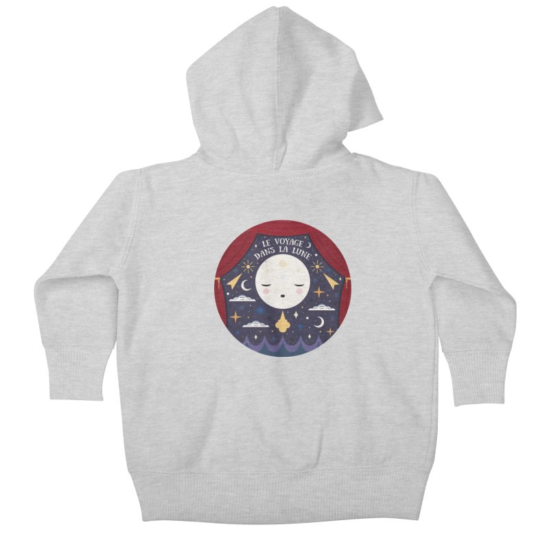 A Trip to the Moon  Kids Baby Zip-Up Hoody by carlywatts's Shop