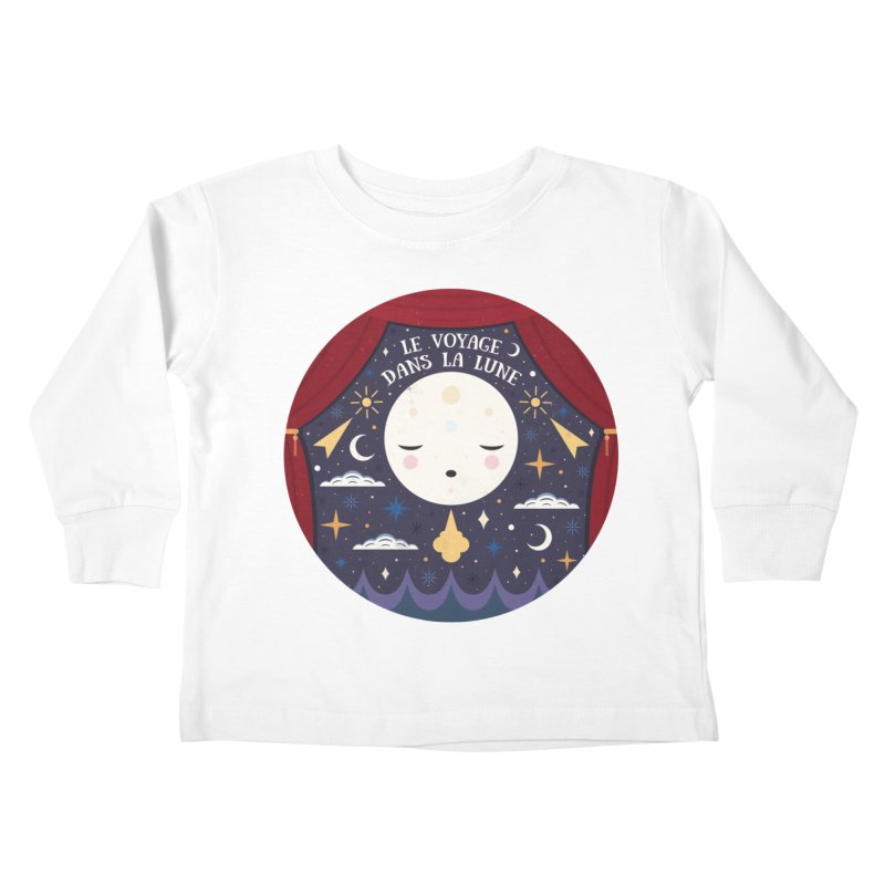 A Trip to the Moon  Kids Toddler Longsleeve T-Shirt by carlywatts's Shop