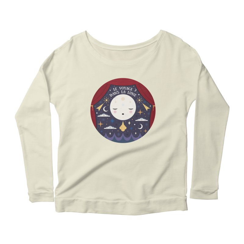 A Trip to the Moon  Women's Longsleeve Scoopneck  by carlywatts's Shop