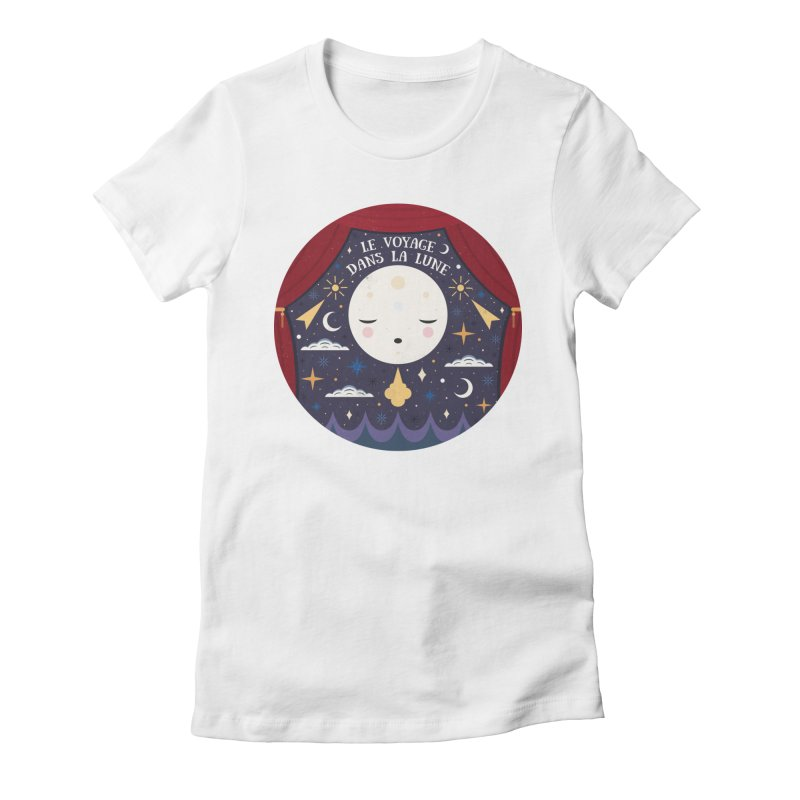 A Trip to the Moon  Women's Fitted T-Shirt by carlywatts's Shop