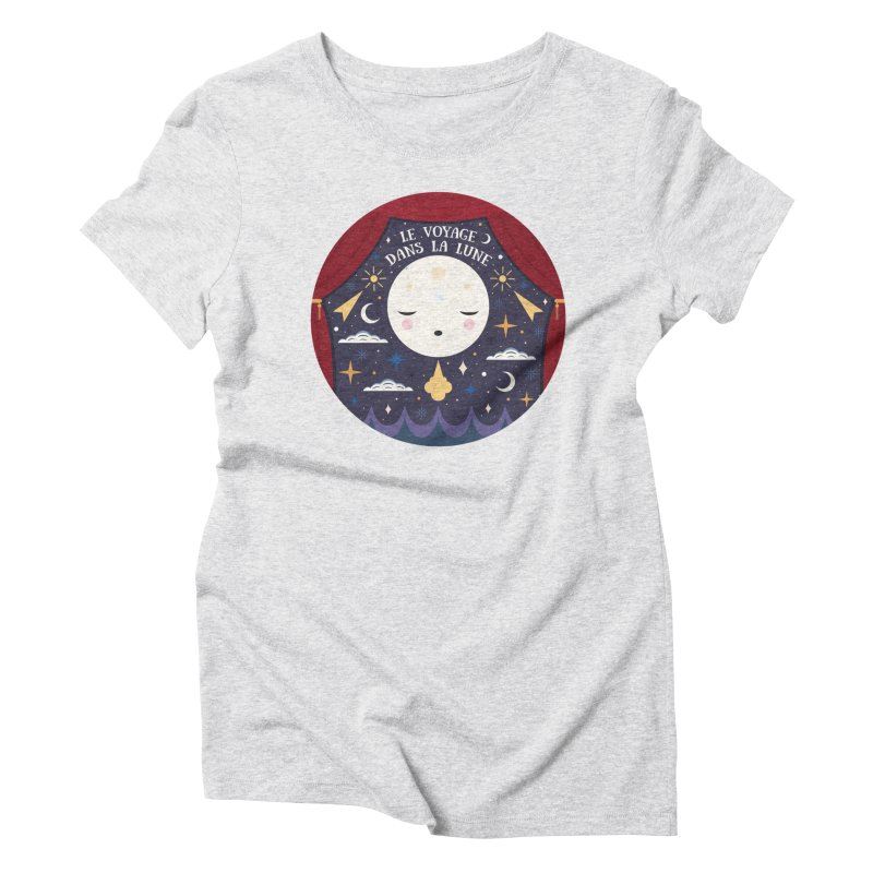 A Trip to the Moon  Women's Triblend T-Shirt by carlywatts's Shop
