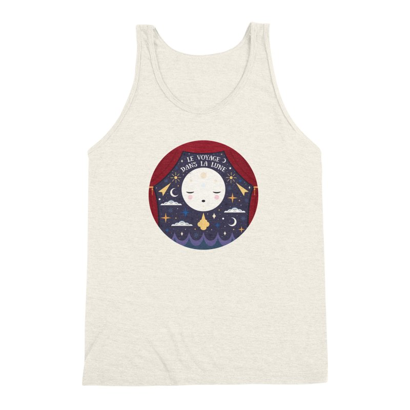 A Trip to the Moon  Men's Triblend Tank by carlywatts's Shop