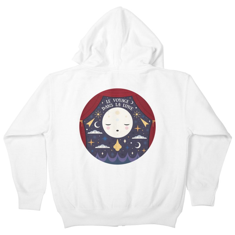 A Trip to the Moon  Kids Zip-Up Hoody by carlywatts's Shop