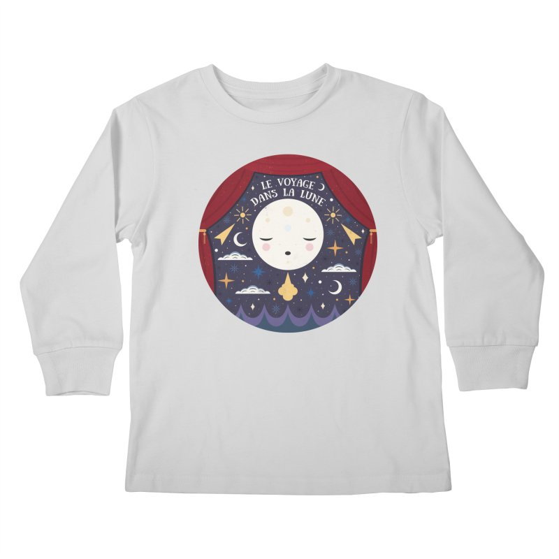 A Trip to the Moon  Kids Longsleeve T-Shirt by carlywatts's Shop