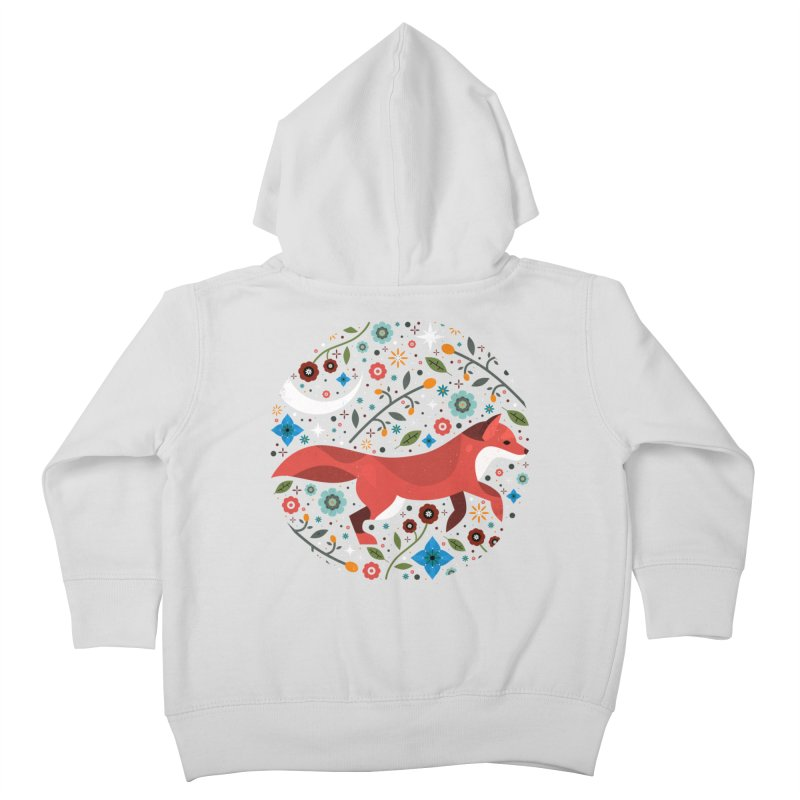 Flame Fox  Kids Toddler Zip-Up Hoody by carlywatts's Shop