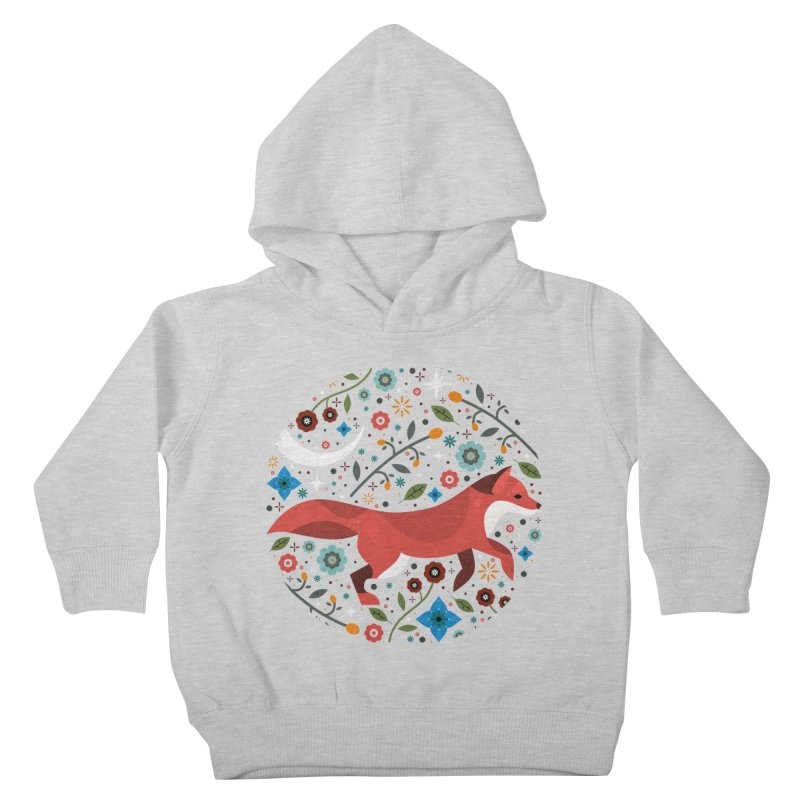 Flame Fox  Kids Toddler Pullover Hoody by carlywatts's Shop