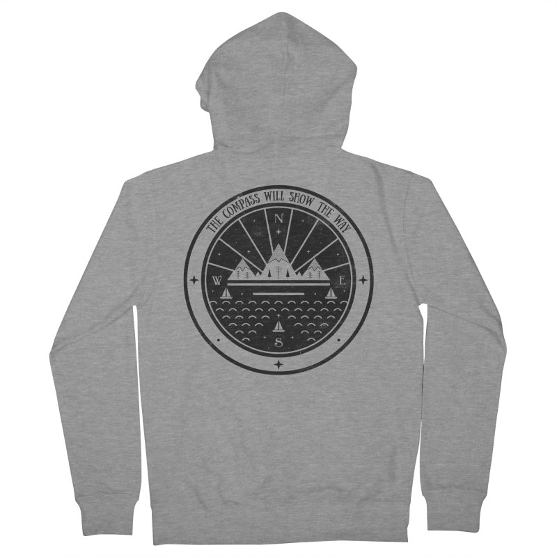 The Compass  Men's Zip-Up Hoody by carlywatts's Shop