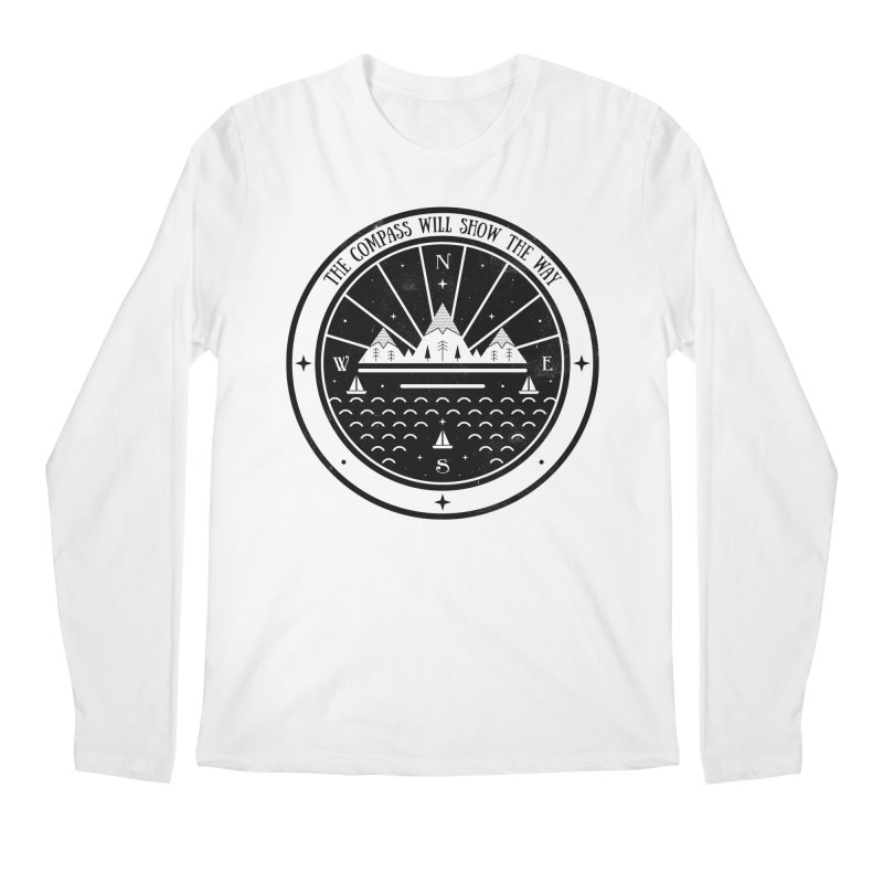 The Compass  Men's Longsleeve T-Shirt by carlywatts's Shop