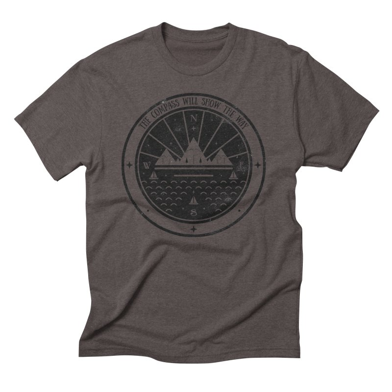 The Compass  Men's Triblend T-Shirt by carlywatts's Shop