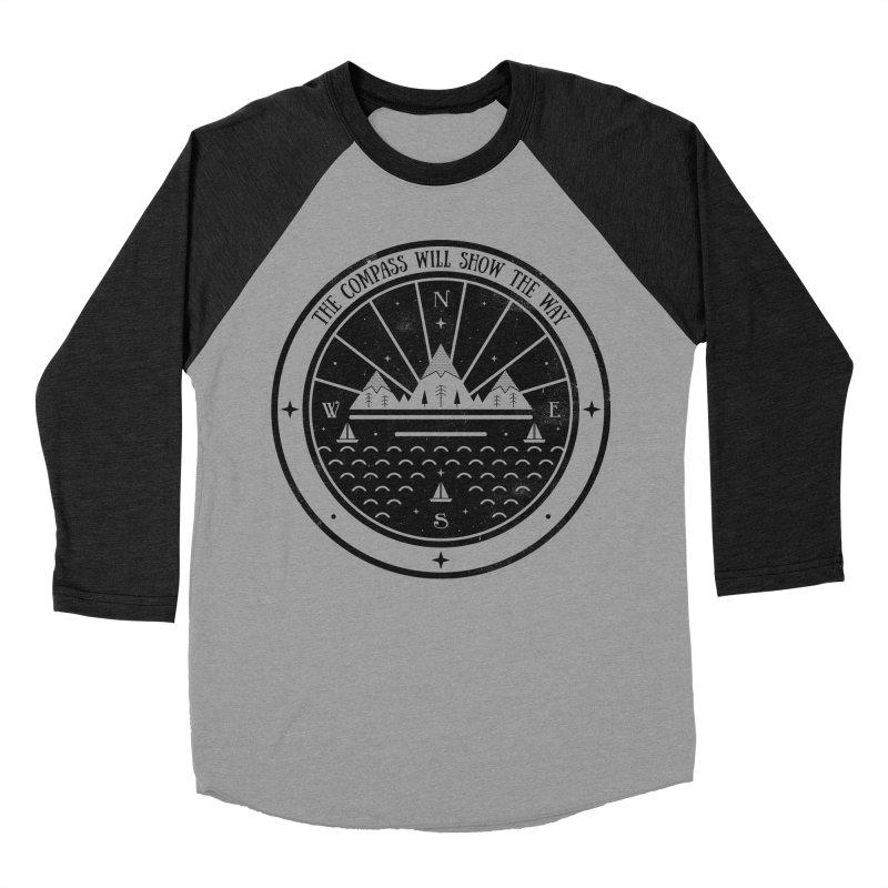 The Compass  Men's Baseball Triblend T-Shirt by carlywatts's Shop