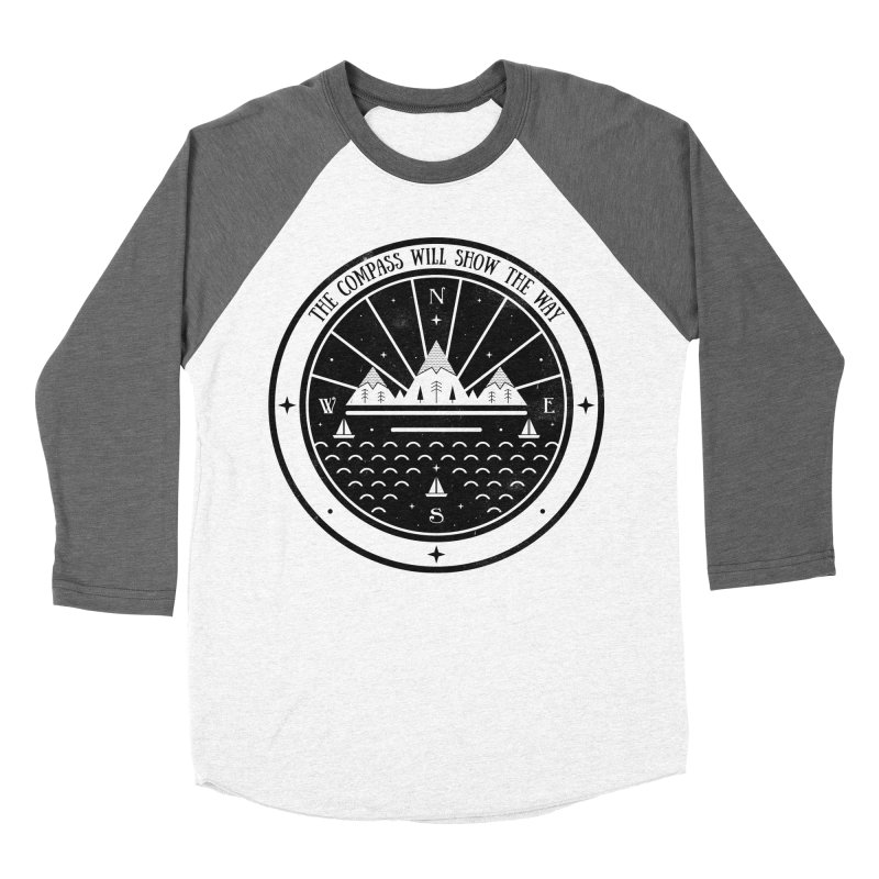 The Compass  Men's Baseball Triblend T-Shirt by carlywatts's Shop