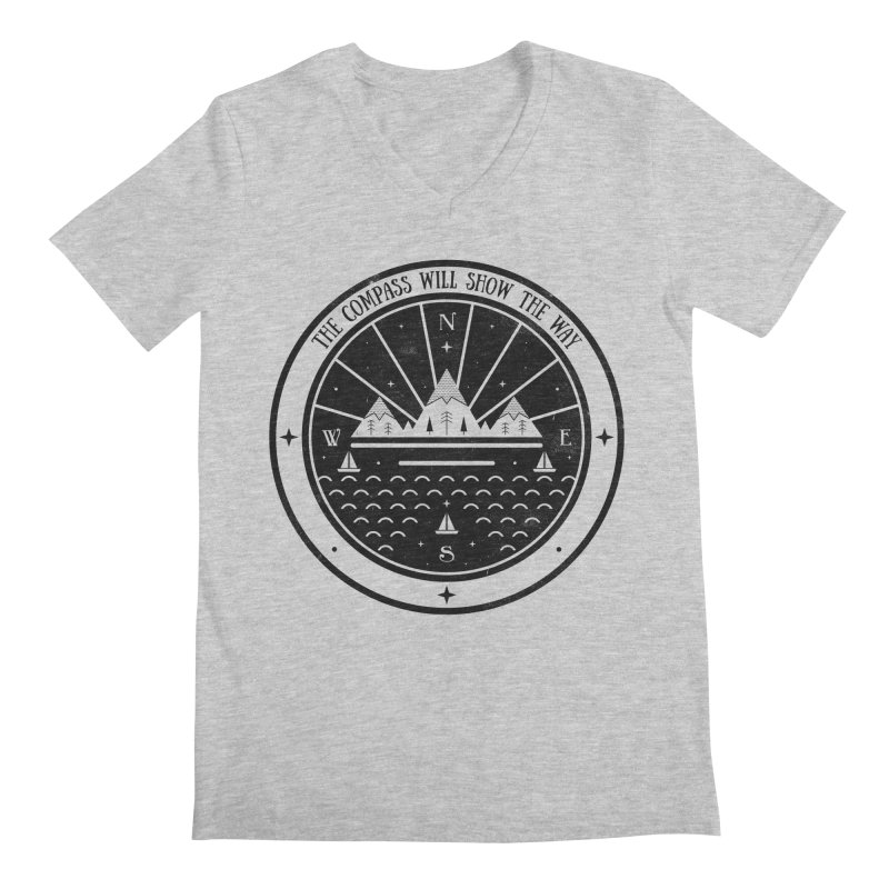 The Compass  Men's V-Neck by carlywatts's Shop