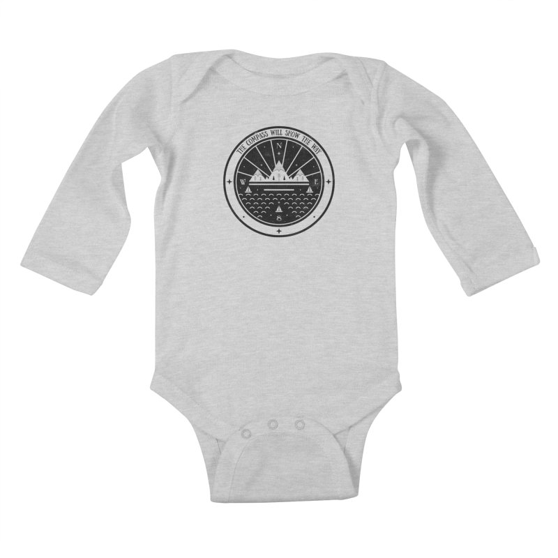 The Compass  Kids Baby Longsleeve Bodysuit by carlywatts's Shop