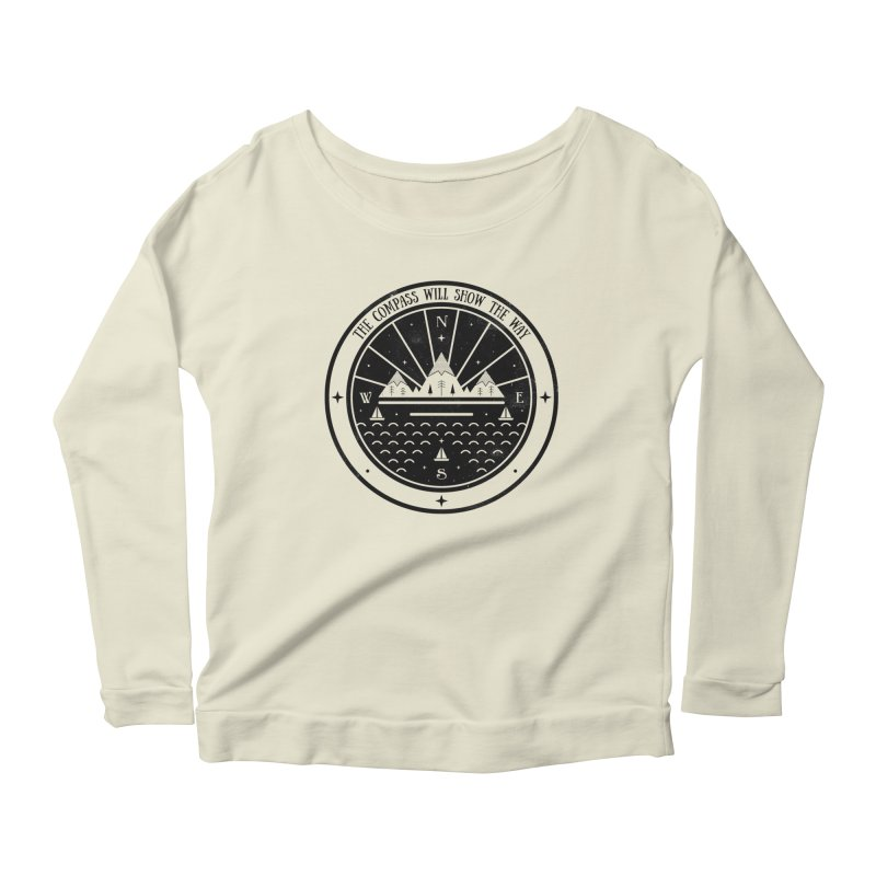 The Compass  Women's Longsleeve Scoopneck  by carlywatts's Shop