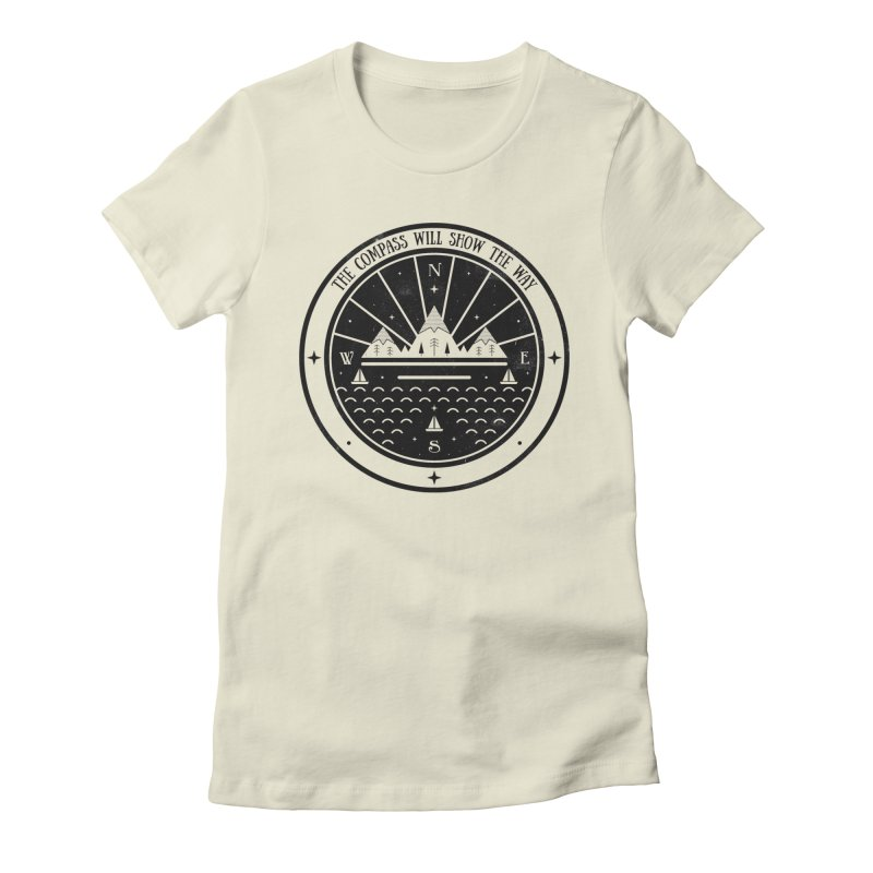 The Compass  Women's Fitted T-Shirt by carlywatts's Shop